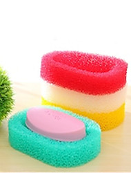 cheap -Body Bath Sponge Soap dishs Green Red Yellow 1pc