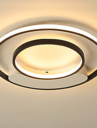cheap -1-Light LED Modern Flush Mount Lights/ LED Ceiling Lights for Bedroom Living Room Kids Room Black/White Painted/ Warm White/ White/ Dimmable with Remote Control