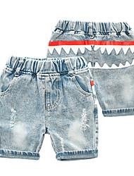 cheap -Kids Boys' Basic Punk & Gothic Print Color Block Cut Out Hole Ripped Cotton Jeans Light Blue