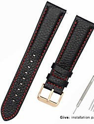 cheap -Genuine Leather / Leather / Calf Hair Watch Band Black 17cm / 6.69 Inches / 18cm / 7 Inches / 19cm / 7.48 Inches 1cm / 0.39 Inches / 1.2cm / 0.47 Inches / 1.3cm / 0.5 Inches