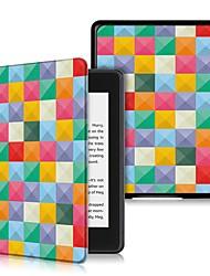 Недорогие -Кейс для Назначение Amazon Kindle Lite (2019) / Kindle PaperWhite 4 2018 Защита от удара / Флип / Ультратонкий Чехол Геометрический рисунок Твердый Кожа PU