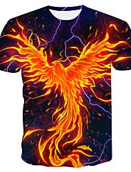 cheap -Men's Plus Size Color Block T-shirt Daily Wear Round Neck Orange / Short Sleeve