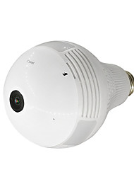 cheap -1080P Panoramic lamp bulb Wifi Ip Camera max Support 128GB