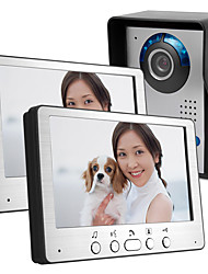 cheap -7 inch cable HD video doorbell night vision rain angle adjustable cable video intercom pair 815FA12