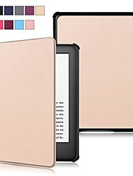 cheap -Case For Amazon Kindle Lite(2019) / Kindle PaperWhite 4 2018 / Kindle PaperWhite 2(2nd Generation, 2013 Release) Shockproof / Flip / Ultra-thin Full Body Cases Solid Colored Hard PU Leather