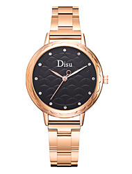 cheap -Women's Quartz Watches Quartz Formal Style Modern Style Casual Creative Rose Gold Analog - White Black Blushing Pink / Large Dial