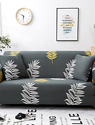 cheap -Leaves Printed Sofa Slipcover Couch Protector Spandex Stretch Sectional Loveseat 3 Seater T Cushion L-shaped Armchair Sofa Cover