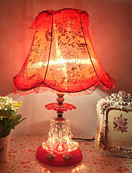 cheap -Modern Contemporary / Traditional / Classic Ambient Lamps / Decorative / Adorable Table Lamp / Desk Lamp / Reading Light For Study Room / Office / Girls Room Glass 110-120V / 220-240V Red / Blushing