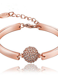 cheap -Women's Cubic Zirconia Chain Bracelet Classic Blessed Casual / Sporty Fashion Rhinestone Bracelet Jewelry Rose Gold For Gift Daily / Rose Gold Plated / Rose Gold Plated