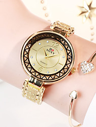 cheap -New SOXY Ladies Steel Belt Watch Round Dial Hollow Pattern Design Dress Watch
