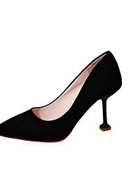 cheap -Women's Heels Comfort Shoes Kitten Heel Pointed Toe PU Summer Black / Pink / Gray / Party & Evening / Party & Evening