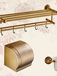 cheap -Bathroom Accessory Set Creative Contemporary Brass 3pcs - Bathroom Wall Mounted