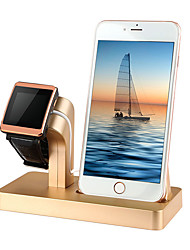 cheap -Apple Watch Stand with Adapter Plastic & Metal Desk / Car