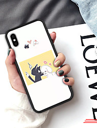 cheap -Case For iPhone XS Max XR XS X Back Case Soft Cover TPU Fashion simple style creative cartoon character Soft TPU for iPhone 8 Plus 7 Plus 7 6 Plus 6 8