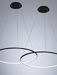 Недорогие -2 шт. / Лот led30w современный круг подвесной светильник рассеянного света окрашен для столовой спальни / теплый белый / белый / с возможностью затемнения с пультом дистанционного управления / Wi-Fi