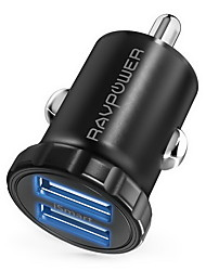 cheap -New Improved Version RAVPower Super Mini Aluminum Alloy 24 W 4.8 A (24 A) 2-Port USB Car Charger 12 V/24 V Car Charger