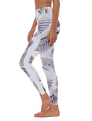 cheap -Women's Yoga Pants Bra Top Solid Color White Gym Workout Bottoms Sport Activewear Soft Micro-elastic Slim