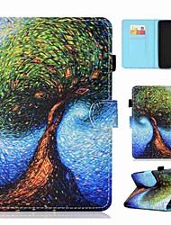 Недорогие -Кейс для Назначение Amazon Kindle Lite (2019) Бумажник для карт / Защита от удара / Флип Чехол Животное / Мультипликация / дерево Твердый Кожа PU