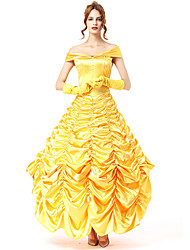 cheap -Princess Movie / TV Theme Costumes Chess Belle Dress Cosplay Costume Masquerade Costume Adults' Women's Party / Evening Halloween Christmas Halloween Carnival Festival / Holiday Polyster Yellow Female