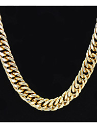 cheap -Men's Women's Gold Chain Necklace Statement Necklace Chains Layered Totem Series XOXO Statement Punk Trendy Rock 18K Gold Plated Chrome 24K Gold Plated Gold 70 cm Necklace Jewelry 1pc For Carnival