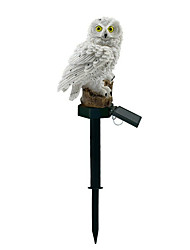 cheap -1pc LED Garden Lights Outdoor LightingSolar Owl Shape Night Lights Solar-Powered Lawn Lamp Home Garden Creative Solar Lamps