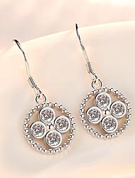 cheap -Women's AAA Cubic Zirconia Drop Earrings Simple Fashion Silver Earrings Jewelry Silver For Daily Festival 1 Pair