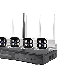 cheap -4CH 1080P H.265 Waterproof Plug and Play HD Wireless Nvr Kit Security System Wifi Ip Kit