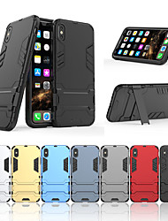 cheap -Case For Apple iPhone XS / iPhone XR / iPhone XS Max Shockproof / Dustproof / Water Resistant Back Cover Solid Colored Hard TPU / PC
