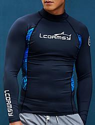 abordables -LCDRMSY Homme Anti Irritation Tee-shirts anti-UV, tops thermiques Tee-shirt de Baignade Protection solaire UV Séchage rapide Manches Longues Natation Plongée Surf Peinture Printemps & Automne Eté