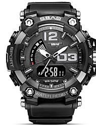 cheap -Men's Sport Watch Japanese Quartz Modern Style Sporty Black / Red / Green 30 m Water Resistant / Waterproof Calendar / date / day Stopwatch Analog Analog - Digital Outdoor Fashion - Blue Black / Blue