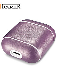 cheap -ICARER for Apple Airpods Glitter Genuine Leather Case Shockproof Protector Cover