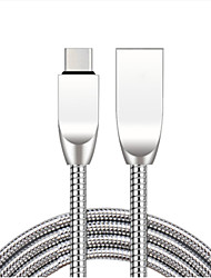 cheap -Micro USB Cable 1.0m(3Ft) High Speed / Gold Plated / Quick Charge Zinc Alloy USB Cable Adapter For Samsung / Huawei / Xiaomi