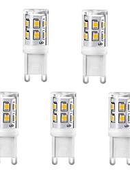 Недорогие -5шт 2w g9 светодиодные кукурузные лампочки керамические 220 В 15 светодиодов smd 2835 заменить 25 Вт лампы накаливания белый теплый белый для хрустальной люстры