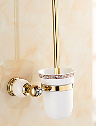 cheap -Toilet Brush Holder Creative Contemporary Brass 1pc Wall Mounted