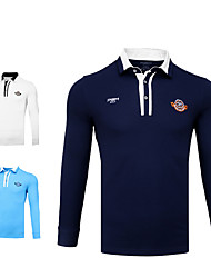 cheap -Men's Polos Shirt Long Sleeve Golf Running Athleisure Outdoor Autumn / Fall Winter / Cotton / Stretchy / Quick Dry / Moisture Wicking / Breathable