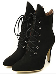 cheap -Women's Suede Fall & Winter Boots Stiletto Heel Mid-Calf Boots Black / Gray / Yellow