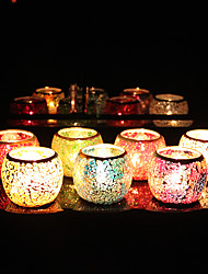 cheap -Hand-made Patch Glass Candlestick Desktop Decoration Wedding Decoration