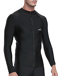 cheap -SBART Men's Rash Guard Spandex SPF50 UV Sun Protection Breathable Long Sleeve Diving Fashion Spring Summer / Quick Dry / Anatomic Design / Stretchy / Quick Dry