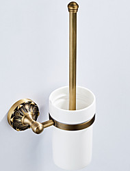 cheap -Toilet Brush Holder New Design Antique / Country Brass 1pc - Bathroom / Hotel bath Wall Mounted