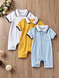cheap -Baby Boys' Active / Basic Print Print Short Sleeves Romper Blue