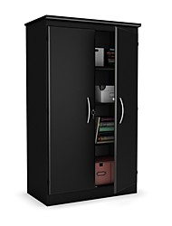 Недорогие -черный шкаф для хранения вещей с 2 дверями отлично подходит для гардероба спальни и кабинета