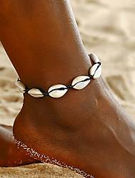 cheap -Leg Chain Natural Bohemian Women's Body Jewelry For Beach Braided Shell Dark Yellow Red Dark Red 1pc