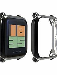 cheap -UBOLE Compatible Amazfit Bip Screen Protector Case TPU Plated Screen Protector Rugged Cover Scratch-Proof All-Around Protective Bumper Shell Compatible Amazfit Bip Smartwatch