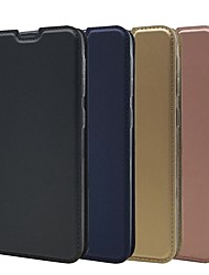 cheap -Case For Samsung Galaxy A70(2019)/A20e Ultra-thin / Flip / with Stand Full Body Cases Solid Colored Hard PU Leather for Galaxy A9(2018)/A10/A30/A40/A50/A7(2018)/A9 Star/A6 Plus 2018/A8 2018/A5(2018)