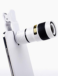 cheap -Universal Clip-on 8X Optical Zoom HD Monocular Telescope Camera Lens For Mobilephone Tablet