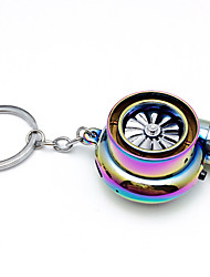 cheap -Creative Electric Turbo Lighter Key Chain USB Rechargeable Cigarette Lighter Key Ring with LED Light and Sound