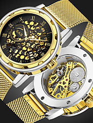 cheap -Men's Mechanical Watch Automatic self-winding Luxury Hollow Engraving Analog Golden Silver / Stainless Steel / Japanese / Japanese