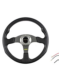 cheap -350mm 14 Inch Universal Sport Racing Car PVC Steering Wheel Modified Car Steering Wheel
