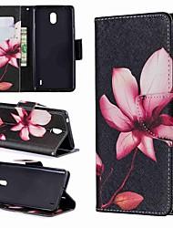 Недорогие -Кейс для Назначение Nokia Nokia 8 / Nokia 7.1 / Nokia 5.1 Кошелек / Бумажник для карт / Защита от удара Чехол Мультипликация / Цветы Твердый Кожа PU