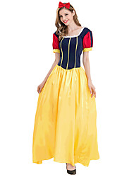 cheap -Princess Cinderella Dress Cosplay Costume Costume Adults' Women's Party / Evening Halloween Christmas Halloween Carnival Festival / Holiday Satin / Tulle Polyster Yellow Female Carnival Costumes